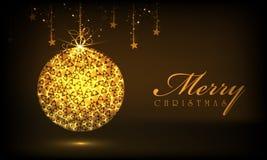 Celebraciones de la Feliz Navidad con la bola de Navidad libre illustration