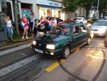 Celebraciones de los croatas fotografía de archivo libre de regalías