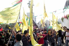 Celebraciones de victoria en Gaza imágenes de archivo libres de regalías