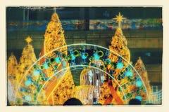Celebraciones del Año Nuevo por la iluminación del color Imágenes de archivo libres de regalías