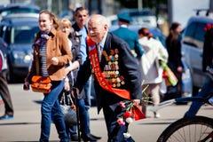 Celebraciones del día de la victoria en Moscú Imagen de archivo libre de regalías