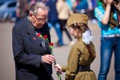 Celebraciones del día de la victoria en Moscú Imágenes de archivo libres de regalías