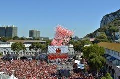 Celebraciones del día nacional de Gibraltar Imagen de archivo libre de regalías