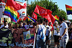 Celebraciones 45 del orgullo gay Fotografía de archivo libre de regalías