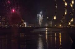 Celebraciones del ` s del Año Nuevo en Toscana Imágenes de archivo libres de regalías