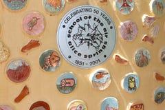 Celebraciones en la escuela del aire, Alice Springs, Australia Imágenes de archivo libres de regalías