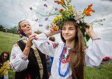 Celebraciones eslavas tradicionales de Ivana Kupala Fotos de archivo