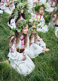 Celebraciones eslavas tradicionales de Ivana Kupala Imagenes de archivo