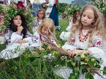 Celebraciones eslavas tradicionales de Ivana Kupala Imagen de archivo libre de regalías