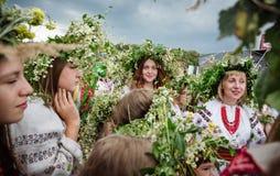 Celebraciones eslavas tradicionales de Ivana Kupala Foto de archivo