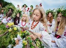 Celebraciones eslavas tradicionales de Ivana Kupala Imagen de archivo