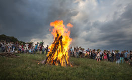 Celebraciones eslavas tradicionales de Ivana Kupala Fotos de archivo libres de regalías