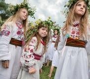 Celebraciones eslavas tradicionales de Ivana Kupala Imágenes de archivo libres de regalías
