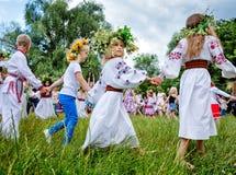 Celebraciones eslavas tradicionales de Ivana Kupala Fotografía de archivo libre de regalías