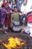 Celebraciones mayas del calendario Foto de archivo libre de regalías