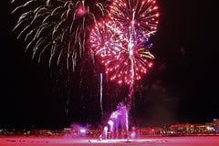 Celebraciones tradicionales del Año Nuevo en LuleÃ¥ Foto de archivo libre de regalías