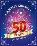 Celebrando 50 años de aniversario ilustración del vector
