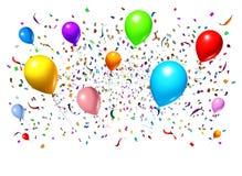 Celebrando con gli aerostati del partito Fotografia Stock
