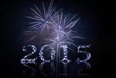 Celebrando con i fuochi d'artificio Fotografia Stock Libera da Diritti
