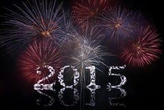 Celebrando con i fuochi d'artificio Fotografia Stock