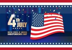 Celebrando Día de la Independencia el 4 de julio Foto de archivo