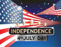 Celebrando Día de la Independencia el 4 de julio Foto de archivo libre de regalías