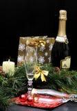 Celebrando el Año Nuevo (la Navidad) Foto de archivo libre de regalías