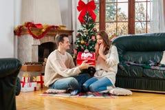 Celebrando il Natale insieme immagine stock libera da diritti