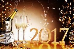 Celebrando 2017 nuovi anni di EVE Fotografie Stock Libere da Diritti
