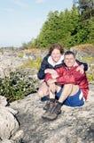 Celebrando un'avventura - fare un'escursione il Bruce Fotografie Stock Libere da Diritti