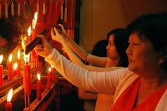 A celebração chinesa do ano novo em Kolkata-India Fotos de Stock Royalty Free