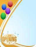 a celebração da grande inauguração balloons o fundo Imagens de Stock Royalty Free