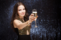 Celebração de Champagne. Fotos de Stock