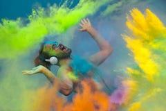 Celebração de Holi Fotografia de Stock Royalty Free