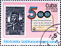 Celebrate 500 years Latin America history Stock Images