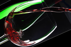 Celebrate. Still life photography of wine and wine glass Stock Image