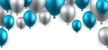 Celebrate arch background with balloons. Celebration arch background with blue balloons. Vector illustration Royalty Free Stock Photos