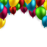 Celebrate arch background with balloons Stock Image