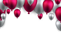 Celebrate arch background with balloons Stock Images