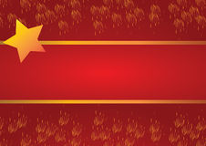 Celebrate background. Red celebrate background with star, vector Royalty Free Stock Photo