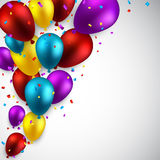 Celebrate background with balloons. Royalty Free Stock Photo