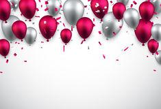Celebrate background with balloons. Royalty Free Stock Images