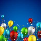 Celebrate background with balloons. Royalty Free Stock Photography