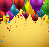 Celebrate background with balloons. Stock Photos
