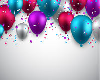Celebrate background with balloons Royalty Free Stock Image