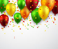 Celebrate background with balloons Stock Images