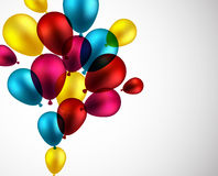 Celebrate background with balloons. Royalty Free Stock Photos