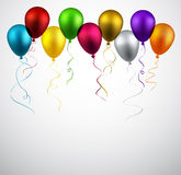 Celebrate background with balloons. Stock Photo