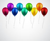 Celebrate background with balloons Royalty Free Stock Images