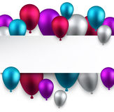 Celebrate background with balloons Stock Photos